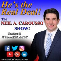 """The Neil A. Carousso Show"" airs live on Sunday afternoons from New York City."